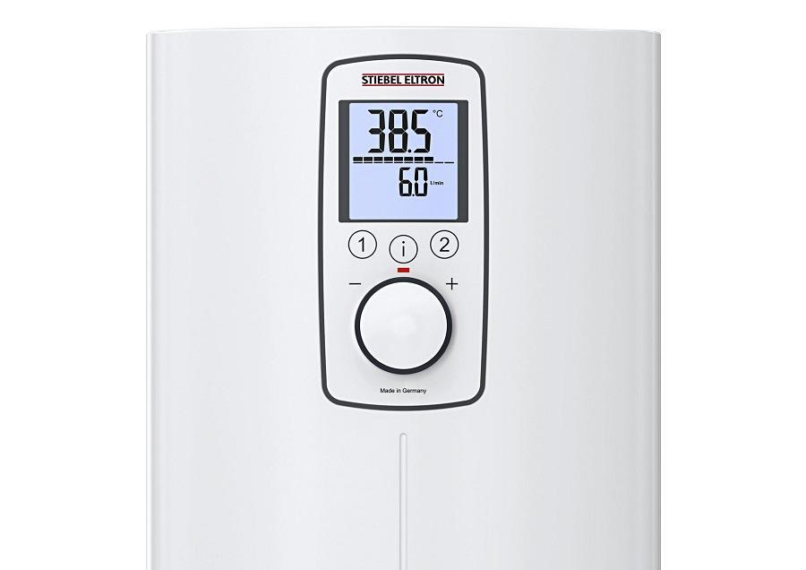 Электронное управление и LED-дисплей на проточном водонагревателе Stiebel Eltron серии DCE-X Premium