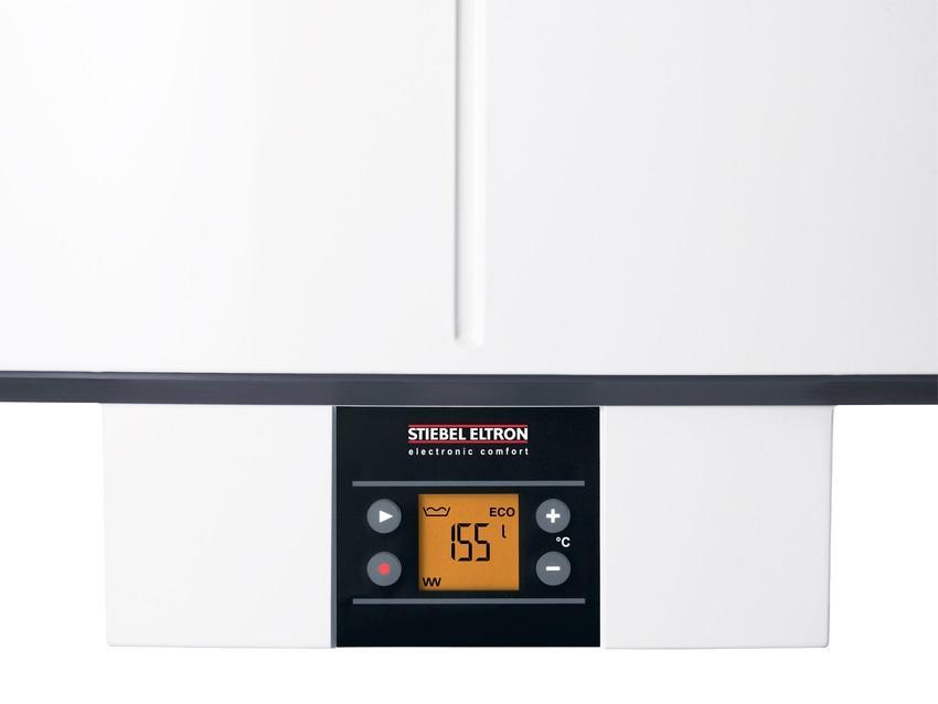 Серия водонагревателей с терморегулятором Stiebel Eltron SHZ LCD отличается точным электронным управлением и оснащена удобным LCD-дисплеем
